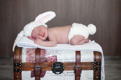 Adorable baby boy, sleeping Stock Image