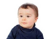 Adorable baby with brawn eyes Stock Photos