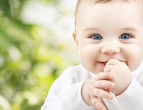 Adorable baby. Child, happiness and people concept - adorable baby