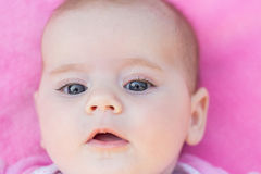 Adorable baby close up Royalty Free Stock Photos