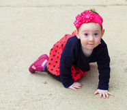Adorable baby crawling Royalty Free Stock Photos