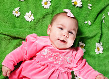 Adorable baby girl Stock Photography