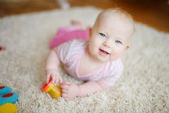 Adorable baby girl Stock Images