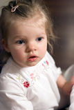 Adorable baby girl royalty free stock photo