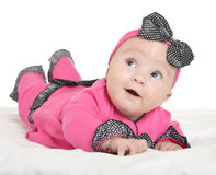 Adorable baby girl on blanket Royalty Free Stock Photos