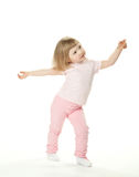 Adorable baby girl dancing Stock Images