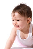 Adorable baby girl laughing Royalty Free Stock Images