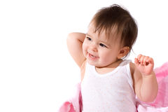 Adorable baby girl laughing Royalty Free Stock Photos