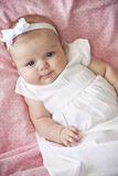 Adorable baby girl portrait Stock Photo