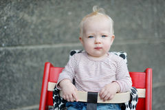 Adorable baby girl portrait Stock Images