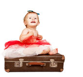 Adorable baby girl portrait Royalty Free Stock Images