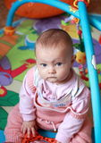 Adorable baby girl sitting Royalty Free Stock Images