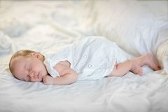 Adorable baby girl sleeping Royalty Free Stock Image