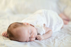 Adorable baby girl sleeping Royalty Free Stock Photography