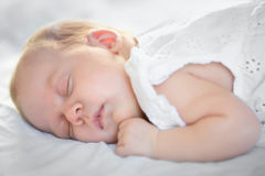 Adorable baby girl sleeping Royalty Free Stock Photos