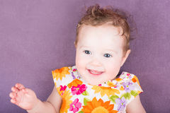 Adorable baby girl in a summer dress Royalty Free Stock Photography