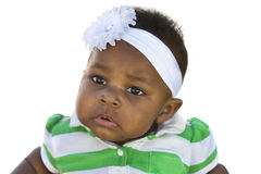 Adorable Baby Girl on white Stock Photos