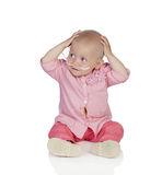 Adorable baby without hair beating the disease Royalty Free Stock Photo
