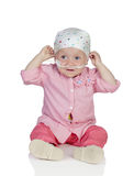 Adorable baby with a headscarf Stock Image