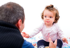 Adorable baby and her father Royalty Free Stock Photo