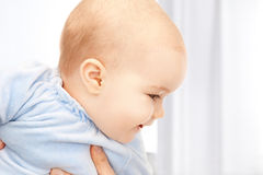 Adorable baby at home Stock Photography