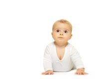 Adorable baby isolated on white background Royalty Free Stock Photos