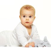 Adorable baby isolated on white background Stock Photo