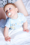 Adorable baby with mother Stock Image