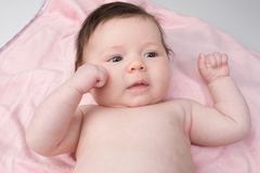 Adorable baby newborn with blue eyes Royalty Free Stock Photo