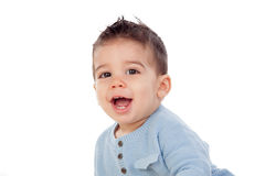 Adorable baby nine months Stock Photos