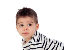 Adorable baby nine months Royalty Free Stock Image