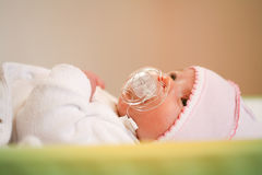 Adorable baby with pacifier Royalty Free Stock Photography