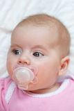 Adorable baby with pacifier Stock Photography