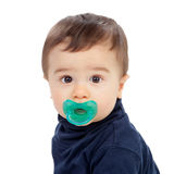 Adorable baby with pacifier Royalty Free Stock Images
