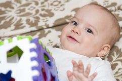 Adorable Baby Playing Royalty Free Stock Photography