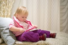Adorable baby preparing to sleep Royalty Free Stock Photography