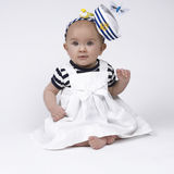 Adorable baby sailor girl Royalty Free Stock Image