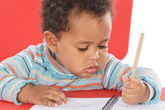 Adorable baby student Stock Photography
