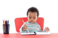 Adorable baby student Royalty Free Stock Image
