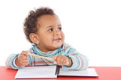 Adorable baby student Royalty Free Stock Photography