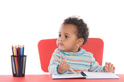 Adorable baby student Royalty Free Stock Photos