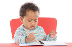 Adorable baby student Royalty Free Stock Photo