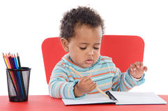 Adorable baby student Stock Photos