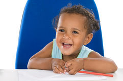 Adorable baby student Stock Photo
