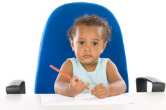Adorable baby student Stock Images