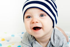 Adorable baby. studio photo Royalty Free Stock Images