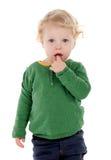Adorable baby thumbsucking Stock Photos