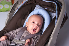 Adorable Baby Yawning Stock Photos