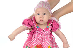 Adorable babygirl Stock Images