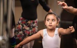 Adorable Ballerina Practicing Royalty Free Stock Image